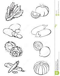 8 vegetables black u0027n white royalty free stock images image