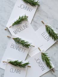 place cards rosemary sprig place cards diy place cards spoon fork bacon