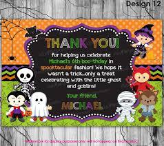 halloween thank you card printable halloween birthday thank