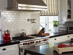 dark kitchen with white subway tile my home design journey