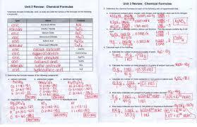 unit 3 chemical formulas