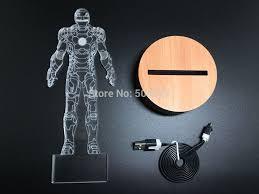 Iron Man Night Light Super Hero Marvel Avengers Toys Iron Man Mask Light Up Toys