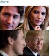 Claire Danes Meme - viral memes of ivanka trump staring at justin trudeau daily mail
