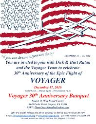 you are invited to celebrate 30th anniversary of voyager flight celebration kitplanes newsline
