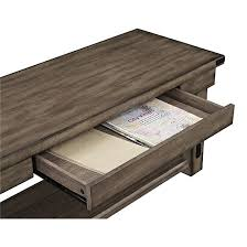 wood veneer entryway bench with drawers and shelf