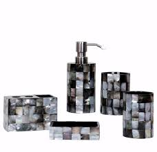 5 Piece Bathroom Set by 5 Pieces Set Shell Resin Bathroom Accessories Set Luxury Bathroom