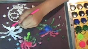 fireworks salt painting w kid maker youtube