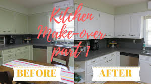 Kitchen Cabinet For Less Kitchen Makeover Part 1 Diy Painting The Cabinets For Less Youtube