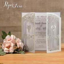 gatefold wedding invitations silver gatefold personalised laser cut wedding invitations paper