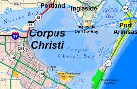 map of corpus christi corpus christi bay fishing maps and spots