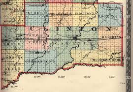 Illinois Map by 1875clinton County Il Map