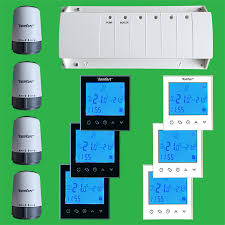 ufh timed zone control pack touch screen thermostats u0026 actuators