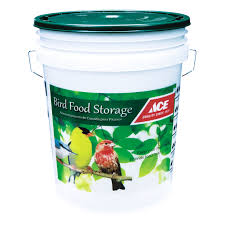 ace bird seed storage bucket with lid feeder accessories ace