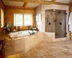 rustic cabin bathroom ideas the copper tub in this rustic log cabin bathroom charming