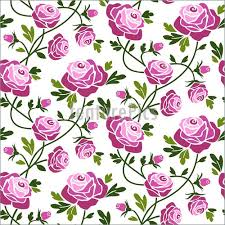 abstract patterns roses seamless pattern stock illustration