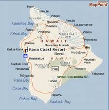 map of hawaii big island hawaii kona coast map kona coast resorts hawaii big island