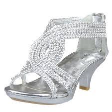 u0027s rhinestone open toe criss cross straps high heel dress