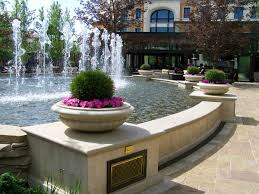 Pier One Planters by Pool And Fountain With Cast Stone Wall And Pier Caps Pool Coping