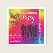 psychedelic butterfly designs paper napkin girly