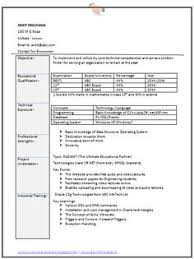 sample template of an excellent graduate resume format with good