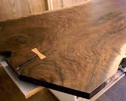 Walnut Slab Table by Slab Projects Harden Cabinets Wood