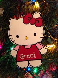 sanrio hello personalized ornament by evanscrafthut on etsy