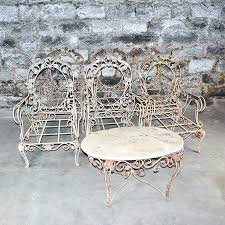 rod iron patio furniture image of classic wrought iron patio chairs