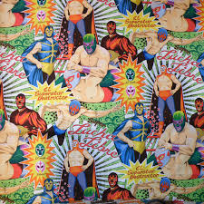 henry fabric lucha libre caoba