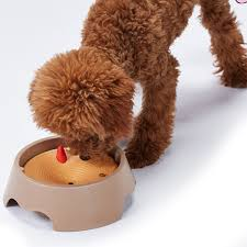 New Creative Fashion Pet Dog Cat Splash Water Bowl No Wet Mouth