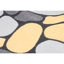 Yellow And Grey Runner Rug Pebbles Grey And Yellow Modern Runner Rug