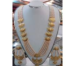 pearl setting necklace images Gold plated jewelry online in bangladesh jpg