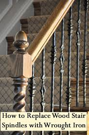 Stair Banisters Railings Best 25 Wood Stair Railings Ideas On Pinterest Stair Case
