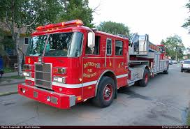 North Bay Fire Prevention by Pierce Dash Aerial Detroit Fire Department Emergency Apparatus