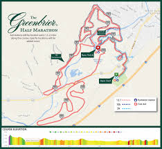 Chicago Marathon Map The Greenbrier Half Marathon U2013 Resort Races Collection
