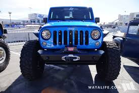 jeep blue 2017 sema currie blue jeep jk wrangler unlimited