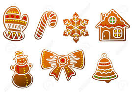 gingerbread christmas cookies set royalty free cliparts vectors