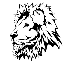 lion face drawing clipart clipartxtras