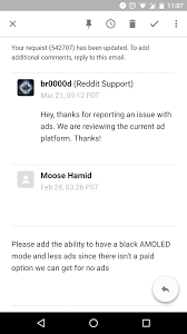 android reddit request for less ads on reddit app for android androidapps