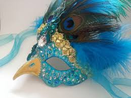 venetian bird mask peacock mask masquerade masks venetian beautiful bird unique