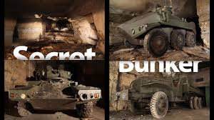 modern military vehicles secret underground bunker is full of world war weapons and
