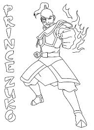 prince zuko avatar air bender coloring prince