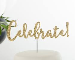 glitter cake topper gold glitter cake topper