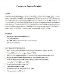 Programming Resume Examples by Charming Sample Sas Programmer Resume Free Download With