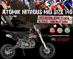 motocross bike sizes new atomik nitrous mid size 140cc pit motor dirt bike ebay