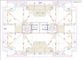 Floor Plan With Roof Plan by Terrace Floor Plan Showing Water Drainage Layout With Slope