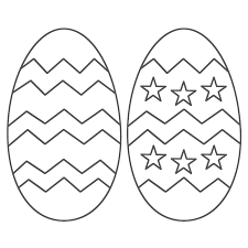 free printable easter egg coloring pages kids eggs glum