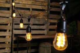 led edison string lights edison light strands 100 foot black wire warm white commercial led