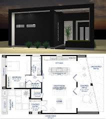 studio900 small modern house plan with courtyard courtyard