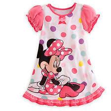 girls disney minnie mouse tennis dress white pink polka dots child