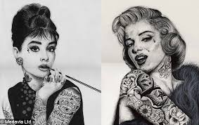 tattooed celebrity portraits medavia